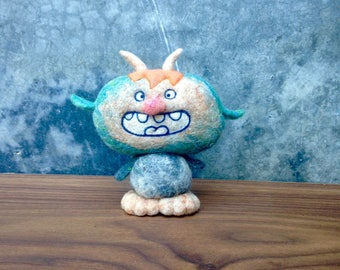OOAK Needle felted Angry Troll Monster Toy Shelf Sitter Ready to Ship