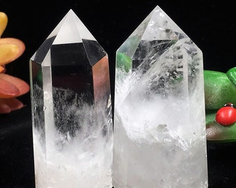 Clear Quartz Crystal Tower Wand Points