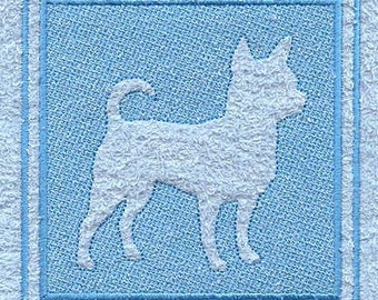 Chihuahua  Embossed Style Embroidered Flour Sack Hand/Dish Towel