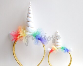 Unicorn Headband - Unicorn Horn - Matching girl and doll Unicorn Headband - Unicorn Doll