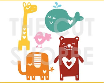 The Animal Lover cut file consists of 5 animal themed images, that can be used for your scrapbooking and papercrafting.