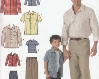 Simplicity Sewing Pattern 4760 Boys' and Men's Pants and Shirt