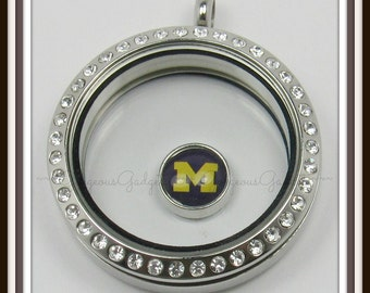 Michigan Floating Charm for Glass Locket / Floating Locket
