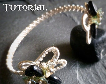 TUTORIAL - Touch of Spring Cuff Bracelet - Wire Wrapped Tutorial - Jewelry Pattern - Wire Wrapped Bracelet Tutorial - Bracelet Tutorial