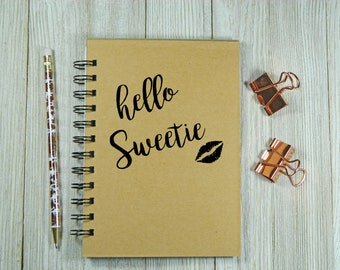 Dr. Who Inspired - Hello Sweetie Notebook/Journal