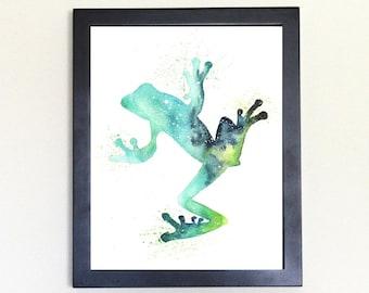 Frog Spirit Animal Art Print Watercolor Totem Guide