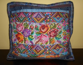 SC92 1 Guatemalan Huipil Pillow Cover from Chichicastenango, Quiché