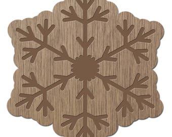 BROCHANITE - CRYSTALS - laser cut wood - brooch