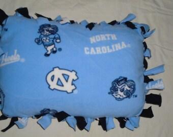 Brand New University of North Carolina Tarheels Football Double Sided Hand Tied Rag Pillow