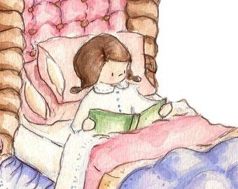 Petite fille et son Dragon. IMPRIMER 8 X 10. Pépinière Wall Art déco
