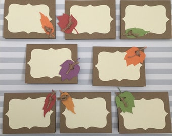 Thanksgiving Place Cards – Set of 8 Paper Place Cards for Fall or Thanksgiving Table Decor