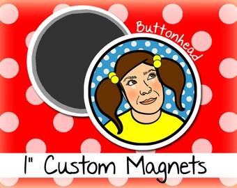 50 1 Inch Custom Magnets Small Mini