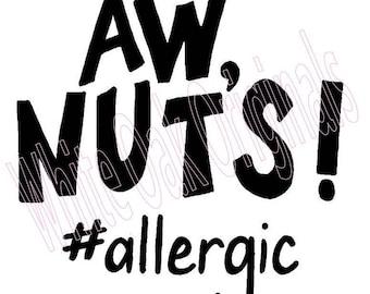 Nut Allergy svg
