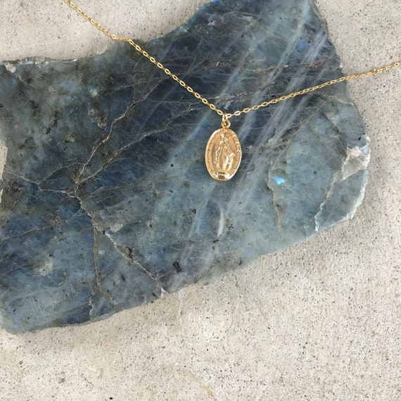 Mary Medallion Necklace
