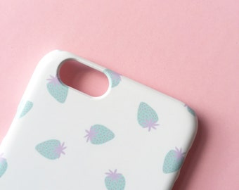 Tiny Pastel Strawberries iPhone X case / iPhone 8 / iPhone 8 Plus / Pastel iPhone 7 / iPhone 7 Plus / cute iPhone 6S / graphic iPhone 5