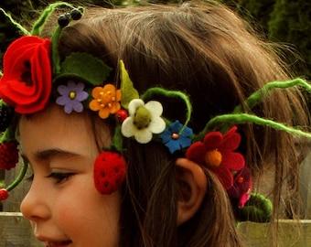 Flower wreath, hair, fairy Crown