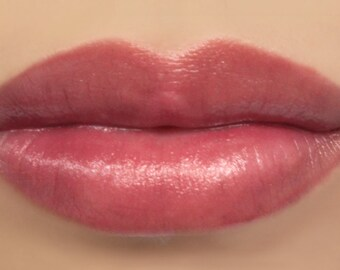 "Vegan Lipstick - ""Opulence"" sheer natural berry mineral lip tint (pink/plum)"