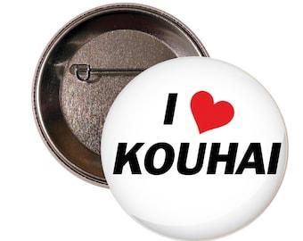 I Heart Kouhai  I Love Kouhai 2 Inch Pinback Button