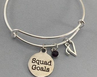 Squad Goals Bracelet - Squad Goals Jewelry - Friendship Bracelet - Gifts for Friends -Personalized Bracelet - BFF Gifts - Gift for Her