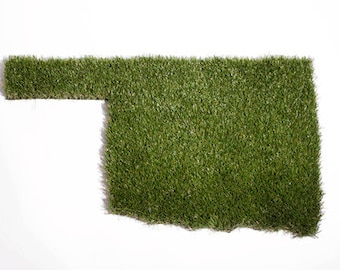Oklahoma Synthetic Grass Doormat | Rug | Wall Art Decor