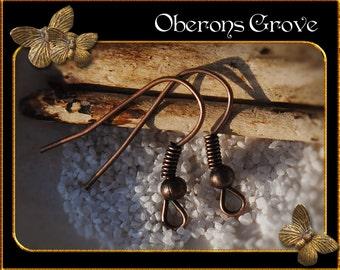 100 fishhook earhooks copper
