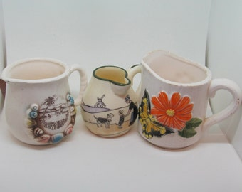 Three Vintage Creamer