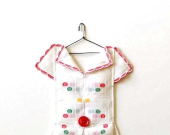 Polka Dot Hanky Dress as Vintage Art Decor