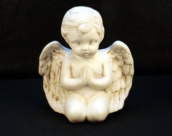 Cupid Cherub Angel Praying Ceramic Figurine