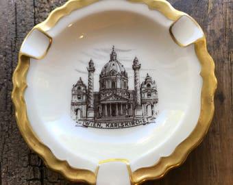 Vintage Porcelain Wien Karlskirche Church Ashtray