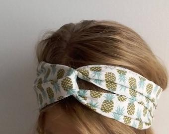 Pineapple pattern turban headband