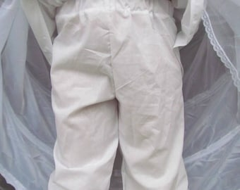 Pioneer Under Garments 1800s Costumes Pioneer Bloomers -White Pantaloons- Child Size