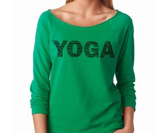 YOGA French Terry 3/4 Sleeve Women T-Shirt
