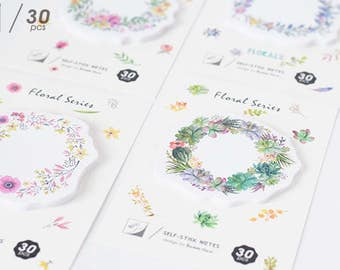 Flower Wreath Sticky Notes