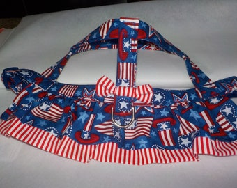Dog Clothes - Custom Dog Harness - Dog Apparel - Patriotic Dress - Dog Dress - Dog Harness - Small Dog Dress - Small Dog Harness
