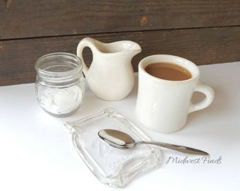 Clear Pint Melted Mason Jar spoon rest, soap dish, ring dish, includes gift box