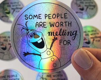 Olaf - Holographic Quote sticker