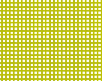 Quilting Treasures - Happy Cats - Loralie - 24422-H - Checks - Lime