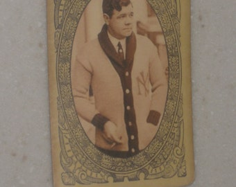 Babe Ruth Fatima Turkish Blend Cigarettes card