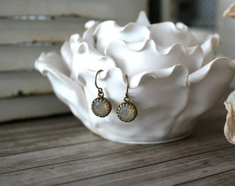 Swarovski Sand Opal earrings, Crystal earrings, Swarovski earrings, Delicate earring, bridesmaid earrings, wedding
