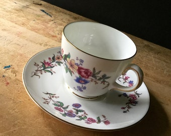 Vintage Wedgwood Bone China, Vintage China Teacups, Shabby Floral China, Mismatched China, China Vintage, Cups and Saucers, Devon Sprays