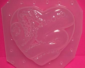 Octopus Tentacle Heart Plastic Mold For Resin SSM Exclusive Design