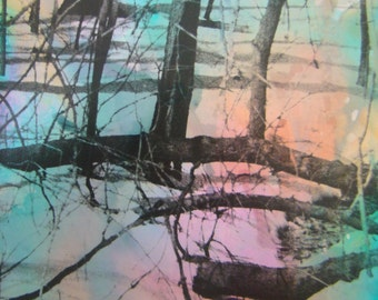 Magic Trees 1, Darkroom Analog photography, Alternative Photography, Stained with ink, Prints made digitally