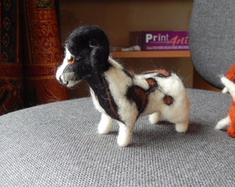 Custom Needle felted  Jacobs Sheep  Soft Sculpture