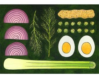 Celery - A4 print