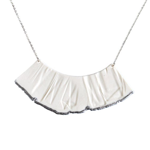 RUCHED No3 bib necklace