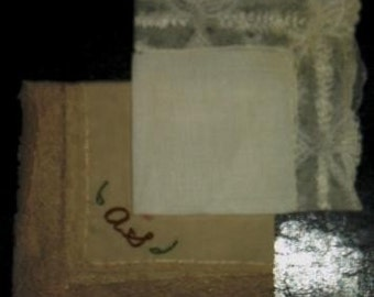 vintage linen ... LACEY 2 pk OF VINTAGE HANKIES ...