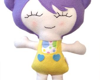Murasaki Stoff Puppe