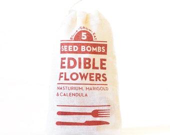 Edible Flower Seed Bombs - Indoor or Outdoor Gardening Seed