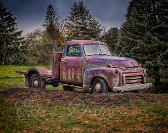 Old truck photo print