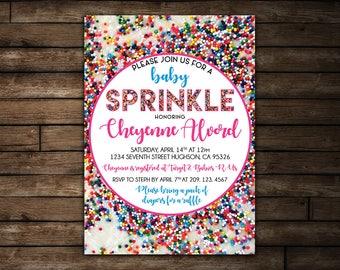 Baby Sprinkle Invitation | Confetti Baby Sprinkle Printable Invitation